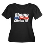 Obama Clinton 08 Women's Plus Size Scoop Neck Dark