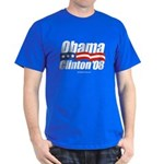 Obama Clinton 08 Dark T-Shirt