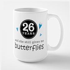 26 Year Anniversary Butterfly Mugs