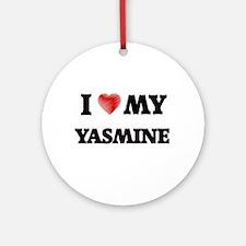 I love my Yasmine Round Ornament
