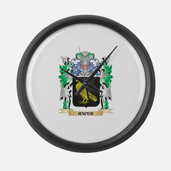 Raper Coat of Arms - Family Crest Large Wall Clock