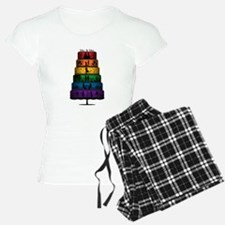 Lesbian Pride Wedding Cake Pajamas