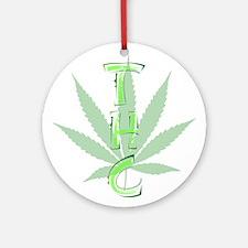 WeedThc Round Ornament