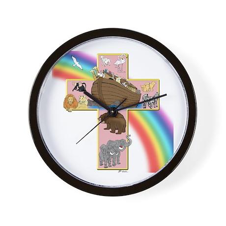 Pink Noah's Cross Wall Clock