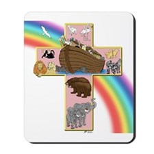 Pink Noah's Cross Mousepad