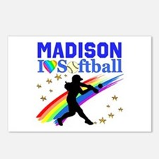 PERSONALIZE SOFTBALL Postcards (Package of 8)