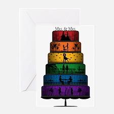 Lesbian Pride Wedding Cake Greeting Cards