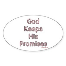 "Pink ""God Keeps"" Oval Decal"