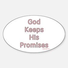 "Pink ""God Keeps"" Oval Decal"