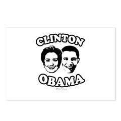 Clinton + Obama Postcards (Package of 8)