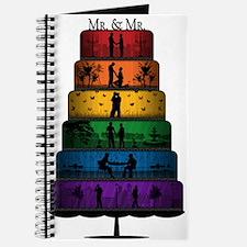 Gay Pride Wedding Cake Journal