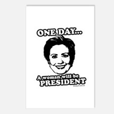 One day a woman will be president Postcards (Packa