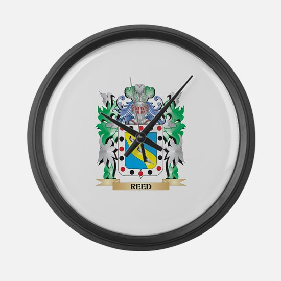 Reed Coat of Arms - Family Crest Large Wall Clock