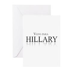 Voto para Hillary Clinton Greeting Cards (Pk of 20
