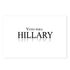 Voto para Hillary Clinton Postcards (Package of 8)