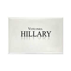 Voto para Hillary Clinton Rectangle Magnet (100 pa