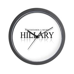 Necesitamos a mujer Hillary Wall Clock