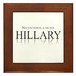 Necesitamos a mujer Hillary Framed Tile