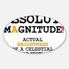 ASTRONOMY - ABSOLUTE MAGNITUDE Decal