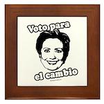 Hillary: Voto para el cambio Framed Tile