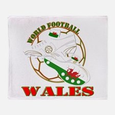 Wales UK world football soccer Throw Blanket
