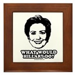 Hillary Clinton: What would Hillary do? Framed Til