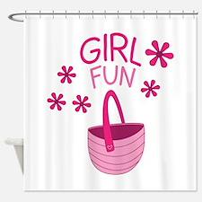 Girl Fun Shower Curtain