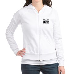 Hillary 2008: You'd run too Fitted Hoodie