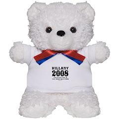 Hillary 2008: You'd run too Teddy Bear