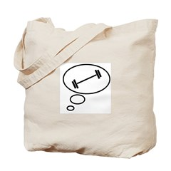 Thinking of Weightlifting Tote Bag