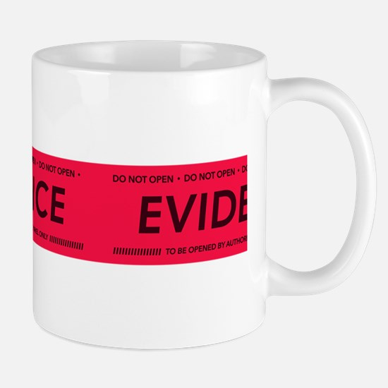Red evidence tape Mugs
