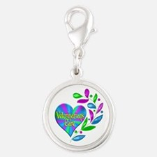 Veterinarians Care Silver Round Charm