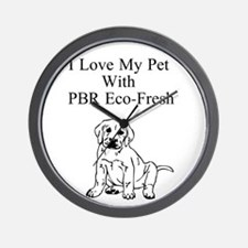 Love Your Pet With PBR Eco-Fresh Wall Clock