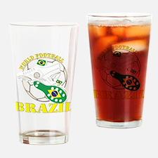 Brazil world football soccer Drinking Glass