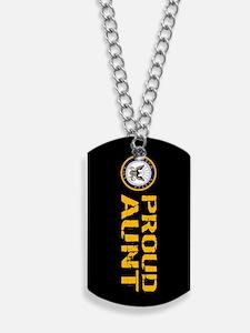 U.S. Navy: Proud Aunt (Black) Dog Tags