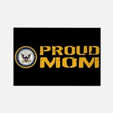 U.S. Navy: Proud Mom (Black) Rectangle Magnet