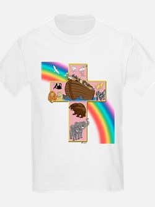 Pink Noah's Cross Kids T-Shirt