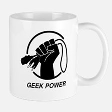 Fist Geek Black Mugs