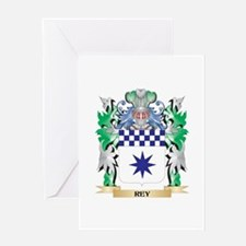 Rey Coat of Arms - Family Crest Greeting Cards