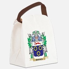 Rhodes Coat of Arms - Family Cres Canvas Lunch Bag
