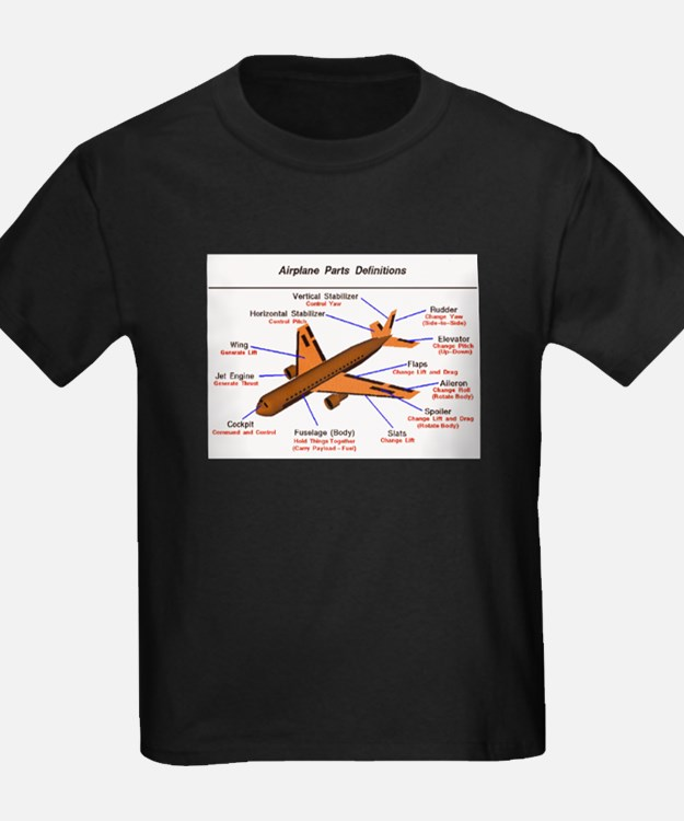 Airplane Parts Ash Grey T-Shirt