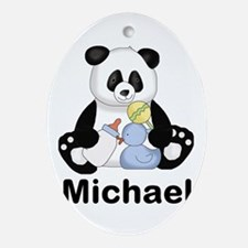 Michael's Little Panda Oval Ornament