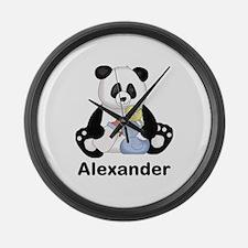 Alexander's Little Panda Large Wall Clock