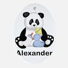 Alexander's Little Panda Oval Ornament