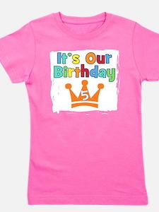 Cute Happy 5th birthday Girl's Tee