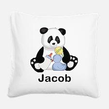 Jacob's Little Panda Square Canvas Pillow
