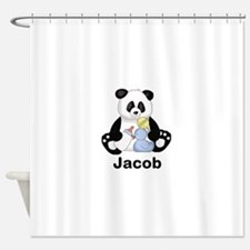 Jacob's Little Panda Shower Curtain