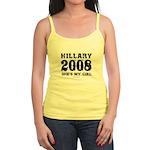 Hillary 2008: She's my girl Jr. Spaghetti Tank
