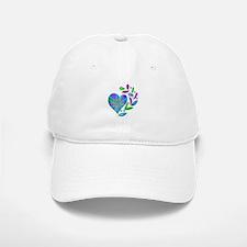 Yoga Happy Heart Baseball Baseball Cap