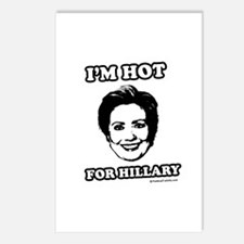 I'm hot for Hillary Postcards (Package of 8)